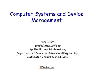 Computer Systems and Device Management