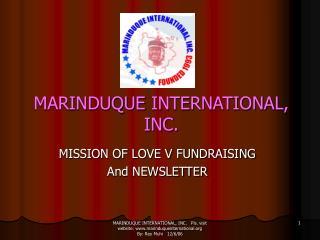 MARINDUQUE INTERNATIONAL, INC.