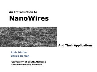 An Introduction to NanoWires