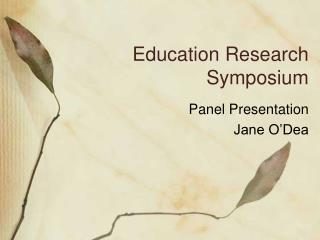 Education Research Symposium