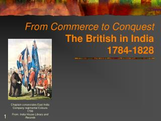 From Commerce to Conquest The British in India 1784-1828