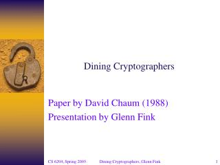 Dining Cryptographers