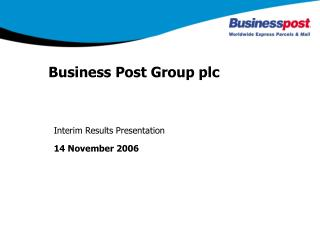 Business Post Group plc