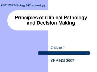 Principles of Clinical Pathology and Decision Making