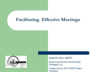 Facilitating Effective Meetings