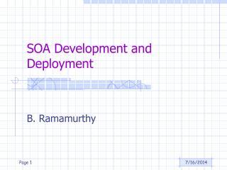 SOA Development and Deployment