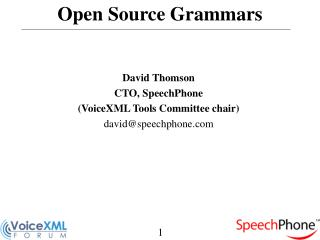 Open Source Grammars