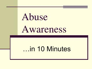 Abuse Awareness