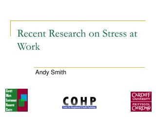 Recent Research on Stress at Work