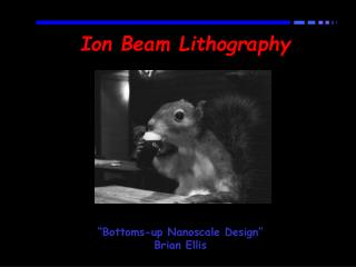 "Ion Beam Lithography ""Bottoms-up Nanoscale Design"" Brian Ellis"