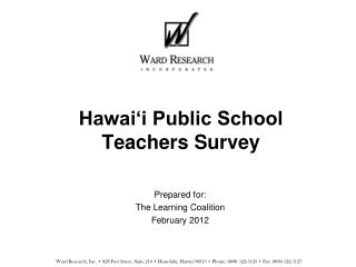 Hawai'i Public School Teachers Survey