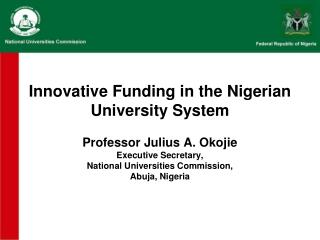 Innovative Funding in the Nigerian University System