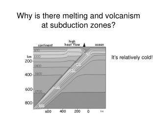 Why is there melting and volcanism at subduction zones?