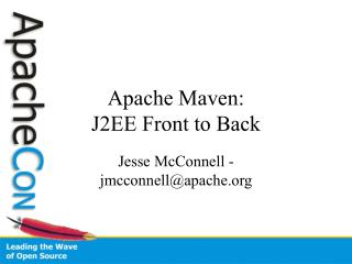 Apache Maven: J2EE Front to Back