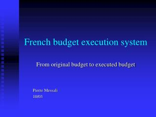 French budget execution system
