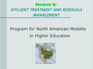 Module 6: EFFLUENT TREATMENT AND RESIDUALS MANAGEMENT