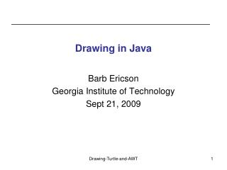 Drawing in Java