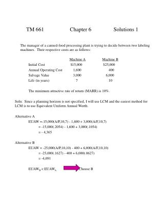 TM 661Chapter 6Solutions 1