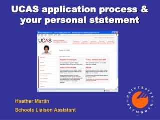 UCAS application process & your personal statement