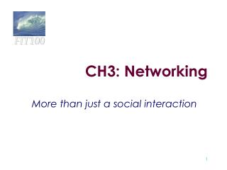 CH3: Networking