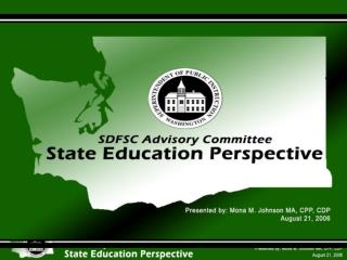 Strengths of SDFSCA  State Grants Program
