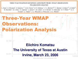 Three-Year WMAP Observations: Polarization Analysis