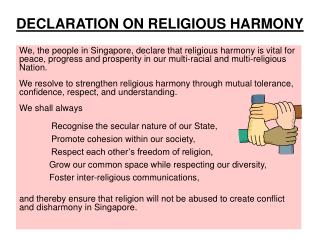 DECLARATION ON RELIGIOUS HARMONY