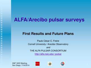 ALFA/Arecibo pulsar surveys