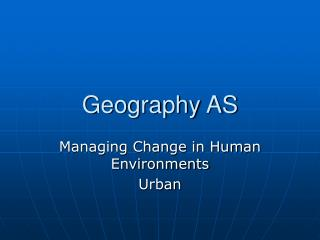 Geography AS