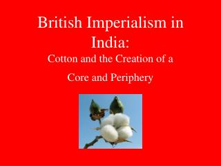 British Imperialism in India: Cotton and the Creation of a  Core and Periphery
