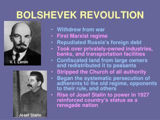 BOLSHEVEK REVOULTION