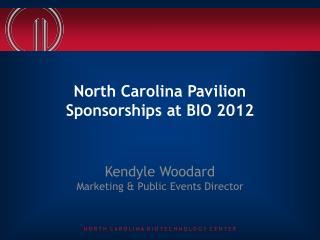 North Carolina Pavilion Sponsorships at BIO 2012