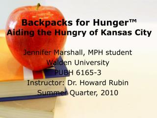 Backpacks for Hunger™  Aiding the Hungry of Kansas City