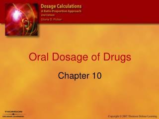 Oral Dosage of Drugs