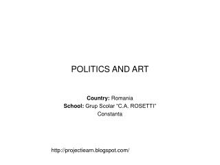 POLITICS AND ART