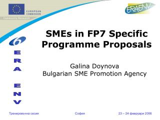 SMEs in FP7 Specific Programme Proposals