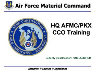 HQ AFMC/PKX CCO Training