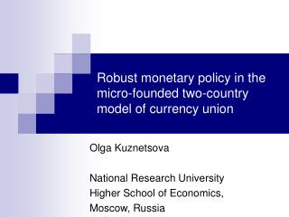 Robust monetary policy in the micro-founded two-country model of currency union