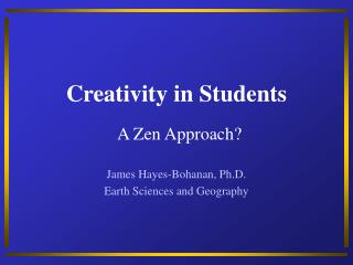Creativity in Students