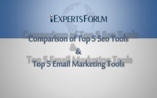 Internet Marketing: Comparison of Top 5 SEO Tols