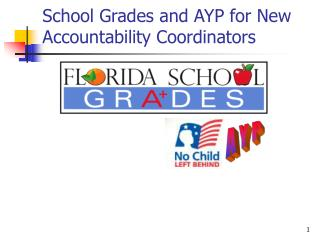 School Grades and AYP for New Accountability Coordinators