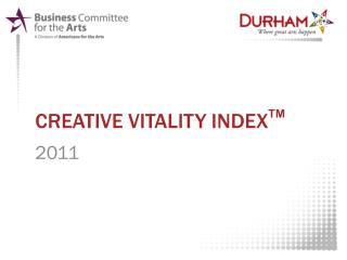 Creative vitality index TM