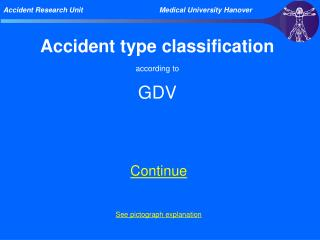 Accident type classification according to GDV