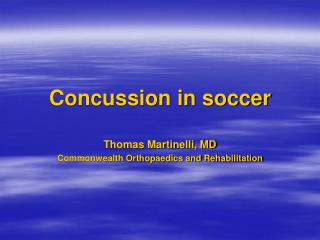Concussion in soccer