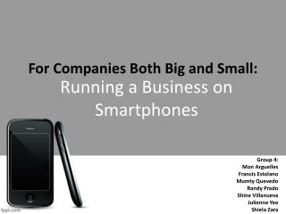 For Companies Both Big and Small: