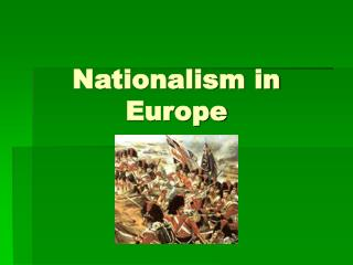 Nationalism in Europe