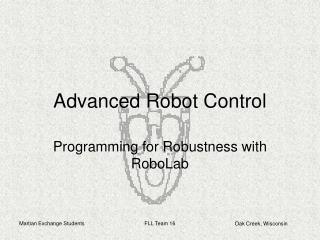 Advanced Robot Control