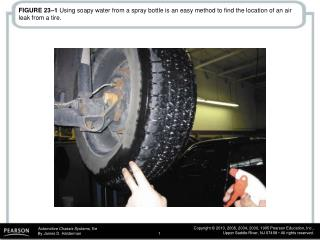FIGURE 23–16  This wheel was damaged because the lug nuts were not properly torqued.