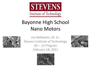 Bayonne High School Nano Motors