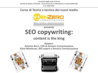 SEO  copywriting :  content is  the  king